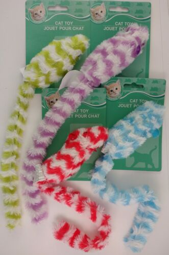 "Plush Kitten Cat Toys Mice w Long Tails, 12½"", 1 Mouse Toy/Pk Select: Color"