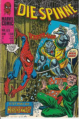 Die SPINNE Nr. 125 (1-2) schöner ZUSTAND WILLIAMS RECHT spider-man