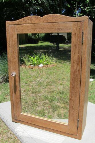 Antique Wood Medicine Cabinet  Bathroom Vanity Glass Knob Farm House or Cabin