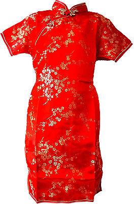 Asia Kinder/Mädchen Qipao/Geisha-Kostüm/Kleid Fasching/Cosplay Rot - Geisha Kleid Kind Kostüm