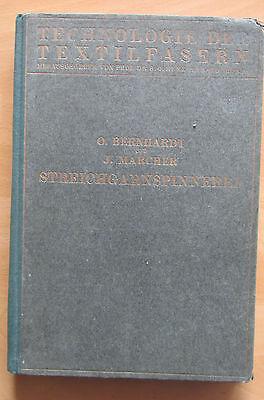 Buch v. 1932 Wollspinnerei Streichgarn Wolle Kunstwolle Effiloche Spinnaschinen