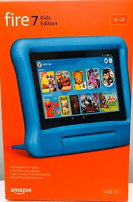 AMAZON FIRE 7 KIDS EDITION BLUE TABLET 7-IN. DISPLAY 16 GB - 2019 RELEASE, NEW