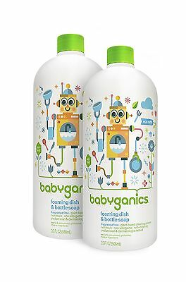 Babyganics Foaming Dish and Bottle Soap Refill, Fragrance Fr