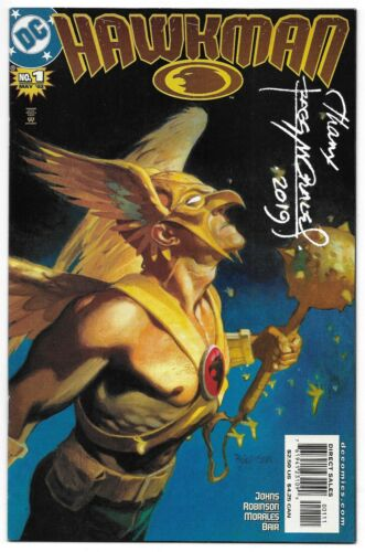 Hawkman 1 Signed Rags Morales Autographed DC Hawkgirl Combined Shipping