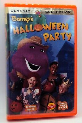 BARNEY'S HALLOWEEN PARTY VHS 14 Song Baby Bop Big Purple Dinosaur Trick Or Treat](Halloween Baby Songs)