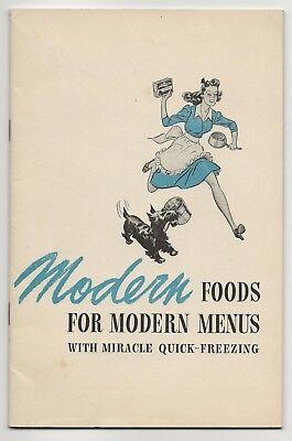 Vintage 1942 BIRDS EYE FOODS Recipe Book: MODERN FOODS FOR MODERN MENUS