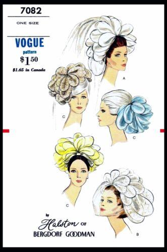 BRIDAL VEIL HAT Wedding HALSTON Fascinator VTG 1960