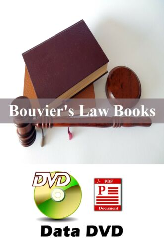 HUGE John Bouvier Law Dictionaries & Law Books 9 Vols on Data DVD PDF Files