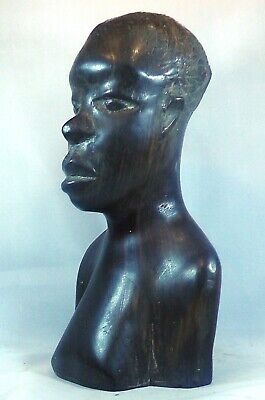 Makonde Hand Carved African tribal bust of a Tribesman  7 inches or 18 cm