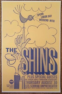 THE SHINS 2007 Gig POSTER Bend Oregon Concert