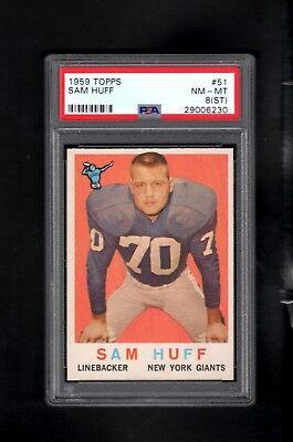 1959 Topps   51 Sam Huff Rc Psa 8 Nm Mt  St