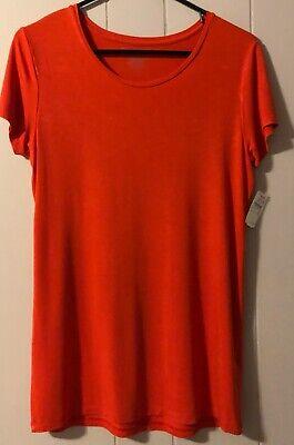 Majestic Filatures NeIman Marcus Deluxe T-Shirt Short Sleeve Orange Sz 3 LG NWT