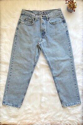 Best Basics 32 X 30 Mens Easy Fit Light Wash Jeans Unisex Blue Mom Dad