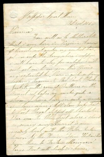 Civil War Letter by Henry Archer 14th Brooklyn Chassuers
