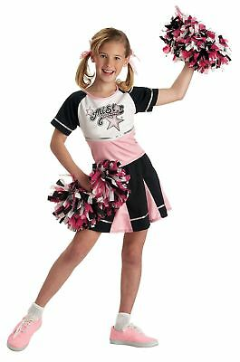 Girls All Star Cheerleader Child Kids Halloween Costume Dress Up Medium - Halloween Cheerleader Costume Kids