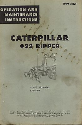 Caterpillar Vintage 933 Ripper Operation Maintenance Manual