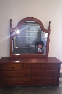 Wooden dresser with mirror  Green Valley Liverpool Area Preview
