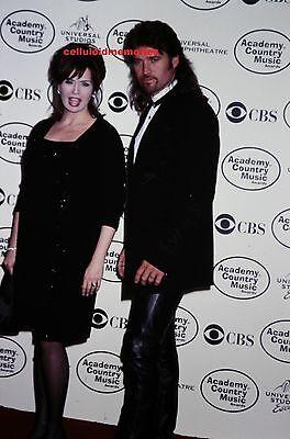Original Photo 35mm Slide Billy Ray Cyrus & Marie Osmond # 1