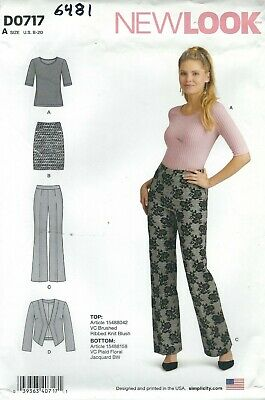 New Look 6481 Misses' Jacket, Top, Skirt and Pants 8 to 20   Sewing Pattern   Jacket Top Skirt Pants