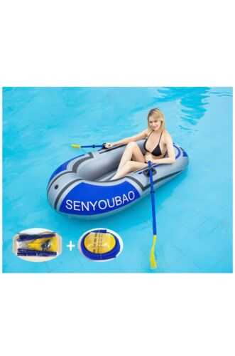 Inflatable 74 inch Kayak 2 Person Boat with Oars, Raft Length:188CM/74  (a)