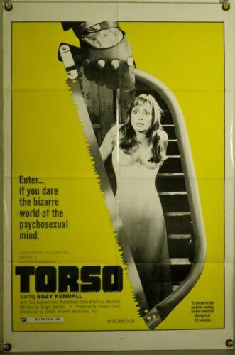 TORSO FF ORIG 1SH MOVIE POSTER SUZY KENDALL SERGIO MARTINO GIALLO (1974)