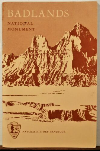 1962 Badlands National Monument South Dakota vintage booklet travel brochure b