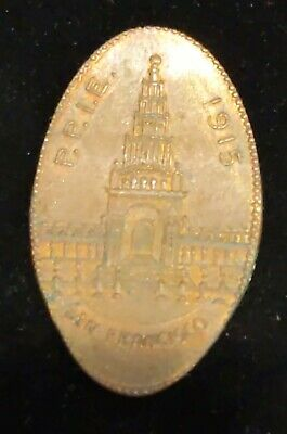 Vintage 1915  P.P.I.E San Fransisco Elongated Crushed Penny Souvenir #BD251