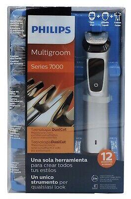 Multigroom 12 in 1 per Barba Capelli Corpo Philips MG7710/18 7000 Taglia...
