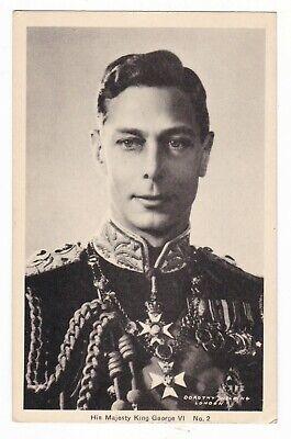 1940 HIS MAJESTY KING GEORGE VI VINTAGE POSTCARD LONDON ENGLAND UNITED KINGDOM