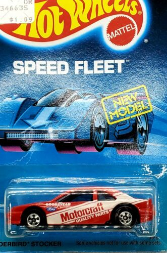 TOUGH 1988 Hot Wheels Speed Fleet New Model Thunderbird Stocker 4916 - Red - $6.49