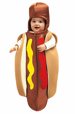 Hot Dog Bun Ting Halloween Costume Infant Boy Girl 0-6 months Chasing Fireflies  - Baby Hot Dog Halloween Costumes