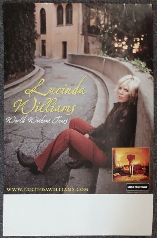 Lucinda Williams World Without Tears 2003 PROMO POSTER