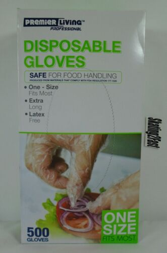Disposable Gloves 500 Latex Free Clear Gloves Premier Living Professional