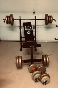 Bench press York 200 et 160 lbs