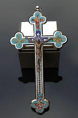 romosaik Kreuz - Kruzifix Roma um 1900 - ca. 19,5 cm  !!! (Mosaik Kreuz)