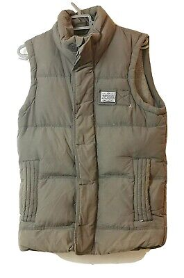 Superdry Academy Men's Grey Quilted Down Gilet /Warmer Jacket Size S