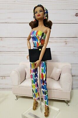 BohoChicBarbie Multicolor print jumpsuit for Barbie and Fashion Royalty