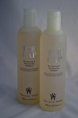 LOT OF 2 Graham Webb ICE CAP Revitalizing & Moisturizing Shampoo 16.9oz
