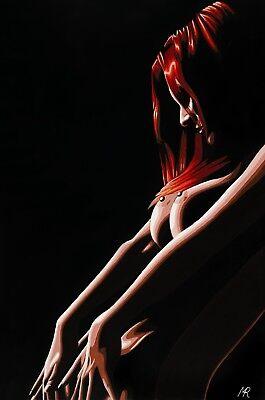 Erotic Art Nude Fine Art Canvas Print by Mark Roberts 'Into the Light III'