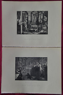 Industry and Idleness  WILLIAM HOGARTH 12 steel plates by various engravers