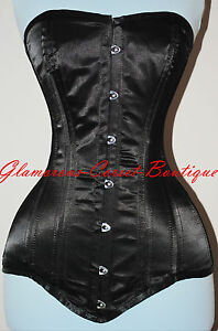 Long Line Steel Corset Double Boned 26 Steel Bones Waist Training LONG TORSO