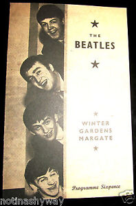 BEATLES Concert Programme Retro 60s Paul McCartney John Lennon Old Liverpool UK