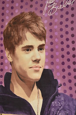 Justin Bieber  Throw Blanket 50x60  Purple Polka Dots