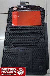 Genuine-Holden-New-Black-rubber-Floor-Mats-Front-Set-of-2-to-suit-VE-Commodore