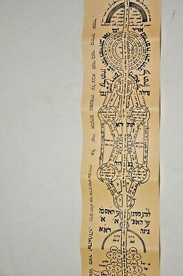 Amulet Protection Very long judaica hebrew R Kadouri kabala קמיע ארוך מהרב כדורי
