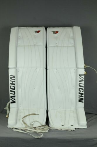 Vaughn Velocity V7 Pro XR Carbon Goalie Leg Pads Senior Size 34+2 White (128R-A)