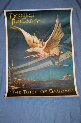 "Vintage Movie Poster, ""The Thief of Bagdad"" (1924) Reprint"