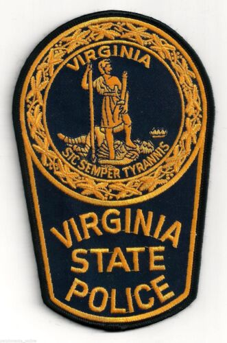 VIRGINIA STATE POLICE - SHOULDER PATCH - IRON OR SEW-ON PATCH