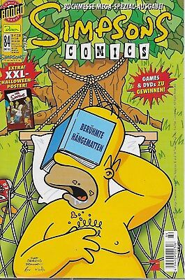 Simpsons Comics Nr.84 / 2003 Panini Comics / Mit XXL-Halloween Poster