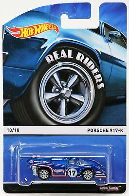 Hot Wheels Porsche 917-K Heritage Real Riders #CFN62 New NRFP 2014 Blue 1:64